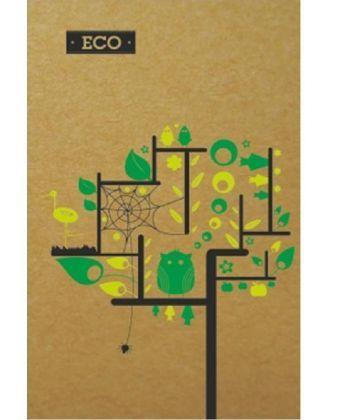 Блокноти А-6 ЕКО Блокнот А6, Еко папір - 96арк., тверда обкл.Серія Дерево