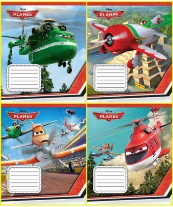 Зошит шкільний ЛІЦ Комплект зошитів скоба 18 арк., лінія, Серія Planes (20 шт в комплекті)