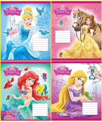 Комплект зошитів скоба 12 арк., лінія,  Серія Princess (25 шт в комплекті)Ц632002У