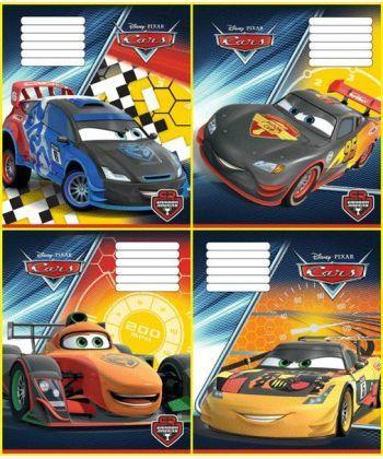 Комплект зошитів скоба 18 арк., лінія, Серія Cars (20 шт в комплекті)Ц630004У