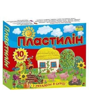 Пластилін  Моя  країна 10 кольорів