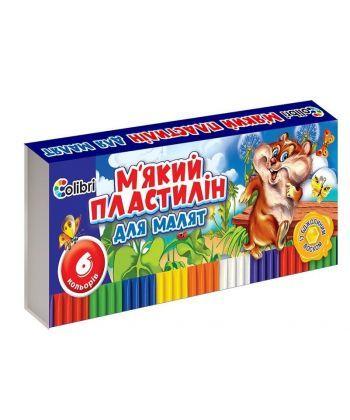 Пластилін Кроха із воском  6 кольорів Ц348020У