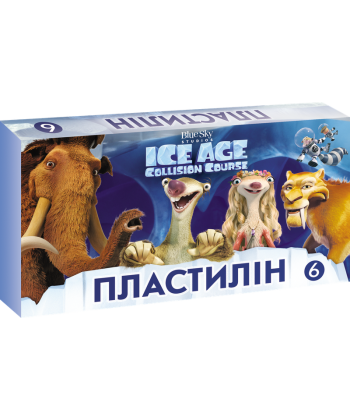 Пластилін ЛІЦ  Серія Ice Age  6 кольорів