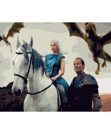 Картина по номерам Дейенерис. Повелительница драконов 40х50 см (PGX28942)