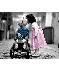 Картина по номерам Детский романтичный поцелуй 40х50 см (GX22639)