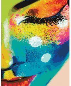 Картина по номерам Женщина в красках 40х50 см (PGX21715)
