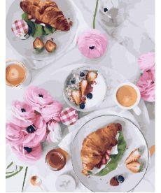 Картина по номерам Завтрак по-французски 40х50 см (PGX23709)
