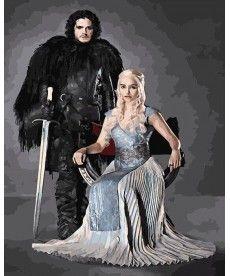 Картина по номерам Игра престолов. Сноу и Дейнерис 40х50 см (PGX28930)