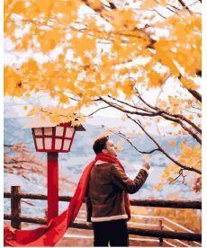 Картина по номерам Красный шарф в осенней Японии 40х50 см (PGX25426)