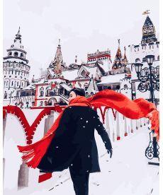 Картина по номерам Красный шарф зимой 40х50 см (GX26244)
