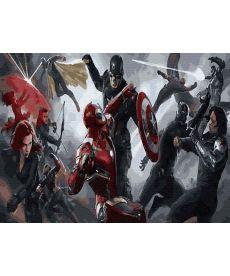 Картина по номерам Мстители в бою 40х50 см (GX30109)