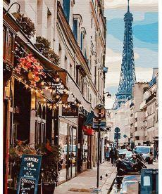 Картина по номерам Париж из-за угла 40х50 см (GX30083)