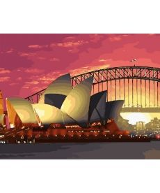 Картина по номерам Сиднейская опера 40х50 см (GX28781)