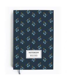 Блокнот Write&Draw Blue Flowers (ТМ Gifty Гифти)