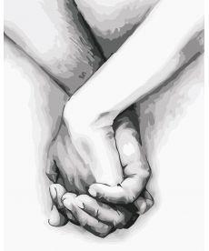 Картина по номерам Рука в руке 40 х 50 см (AS0561)