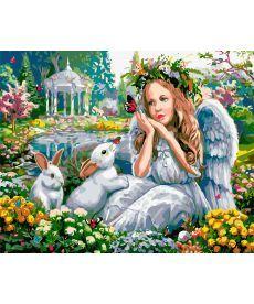 Картина по номерам Мечтательный ангел 40 х 50 см (AS0581)