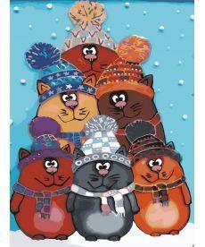 Картина по номерам Забавные котята 30 х 40 см (AS0620)