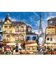 Картина по номерам В центре Парижа 50 х 65 см (AS0651)