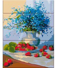 Картина по номерам Цветы и земляника 30 х 40 см (ASW050)