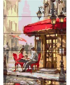 Картина по номерам Уличное кафе 30 х 40 см (ASW062)