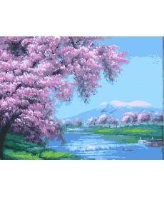 Картина по номерам В розовых лепестках 40 х 50 см (BK-G113)