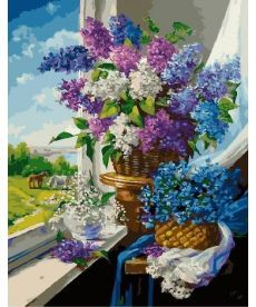 Картина по номерам Майские цветы у окна 40 х 50 см (BK-GX24785)