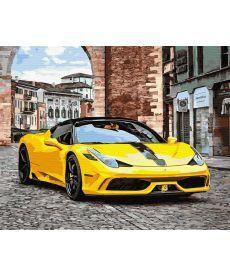 Картина по номерам Желтое авто 40 х 50 см (BK-GX27259)