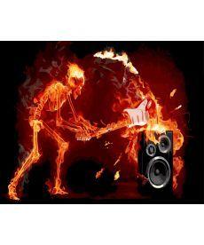 Картина по номерам Огненный гитарист 40 х 50 см (BK-GX27309)