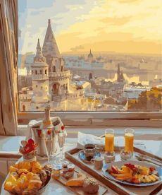 Картина по номерам Завтрак с прекрасным видом 40 х 50 см (BK-GX29263)