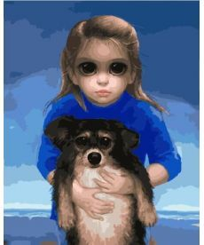 Картина по номерам Ребенок с питомцем Маргарет Кин 40 х 50 см (BK-GX29274)