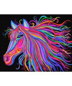 Картина по номерам Радужный конь 40 х 50 см (BK-GX29429)