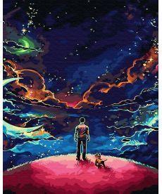 Картина по номерам Наедине со Вселенной 40 х 50 см (BK-GX30081)