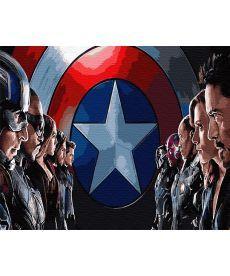 Картина по номерам Мстители (со щитом) 40 х 50 см (BK-GX30111)