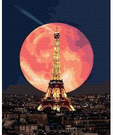 Картина по номерам Луна над Парижем 40 х 50 см (BK-GX30128)