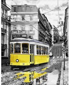 Картина по номерам Желтый трамвайчик 40 х 50 см (BK-GX30147)