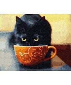 Картина по номерам Довольный котик 40 х 50 см (BK-GX30207)