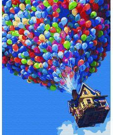 Картина по номерам Дом на шарах 40 х 50 см (BK-GX30281)