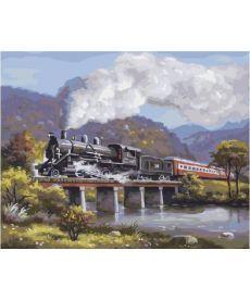 Картина по номерам Экспресс на мосту 40 х 50 см (BK-GX4661)
