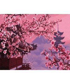 Картина по номерам Сакура в Японии 40 х 50 см (BK-GX4748)