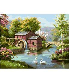 Картина по номерам Маленькая мельница 40 х 50 см (BK-GX5535)