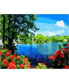 Картина по номерам В лесу у озера 40 х 50 см (BK-GX5838)