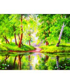 Картина по номерам Озеро в лесу 40 х 50 см (BK-GX7198)