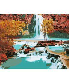 Картина по номерам Водопад 40 х 50 см (BK-GX7253)