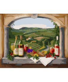 Картина по номерам Вид на виноградники 40 х 50 см (BK-GX7304)