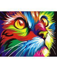 Картина по номерам Радужный кот 40 х 50 см (BRM26192)
