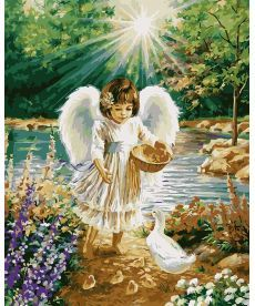 Картина по номерам Ангелочек 40 х 50 см (BRM26532)