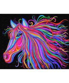 Картина по номерам Радужный конь 40 х 50 см (BRM29429)