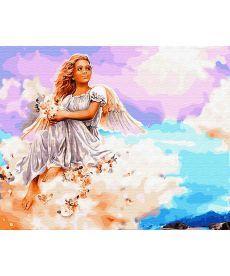 Картина по номерам Ангел на облаке 40 х 50 см (BRM29953)