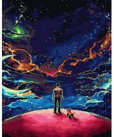 Картина по номерам Наедине со Вселенной 40 х 50 см (BRM30081)