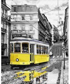Картина по номерам Желтый трамвайчик 40 х 50 см (BRM30147)